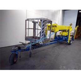Електрическа вишка на ремарке, хидравлични стабилизатори, 200 кг, 23,1/25,1 м, 24V/230V