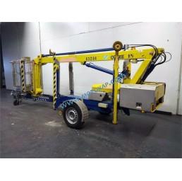 Електрическа вишка на ремарке, хидравлични стабилизатори, 120 кг, 9,9/11,9 м, 24V/230V