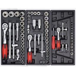 Количка за инструменти 7 реда с включени 196 бр. инструменти