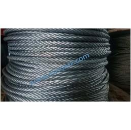Стоманено поцинковано въже 6х19 + МС, DIN 3060, 10,0 мм
