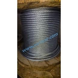 Стоманено поцинковано въже 6х19S+ОC, DIN 3058, 10 мм