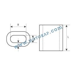 Алуминиева втулка цилиндрична за въже 2,0 мм, тип MAL ПО ЗАПИТВАНЕ