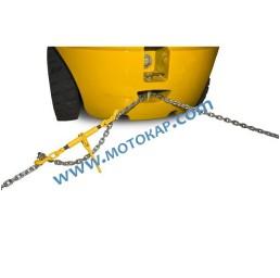 Верига 6,0 мм 5,0 метра електропоцинкована с куки 2,25/4,5 тона