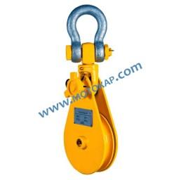 Блок-макара 12,0 тона с шегел, за въже ø24,0 – 26,0 мм, 1 ролка ПО ЗАПИТВАНЕ