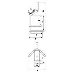 Палетни вилици за кран (кранови вилици) самобалансиращи 1500 кг, FR-C