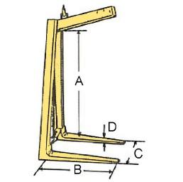 Палетни вилици за кран (кранови вилици) 1500 кг, тип FR-B