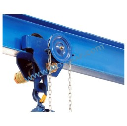 Ръчна гредова количка 10 000 кг със зъбна предавка, 3 м верига, 125-300 мм, тип GT ПО ЗАПИТВАНЕ