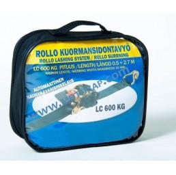 Колан укрепващ 600 daN 1,2 т 0,5+2,7 м с тресчотка самонавиващ + чанта