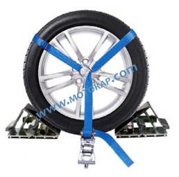 Укрепващ колан с тресчотка за автовоз, LC 1000 daN, 3 тона, 3,2 метра, 35 мм