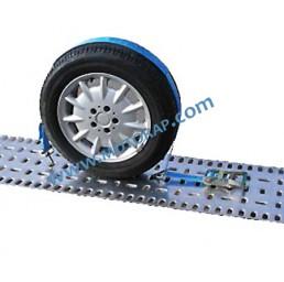 Укрепващ колан с тресчотка за автовоз, LC 1500 daN, 4 тона, 2,0 метра, 50 мм