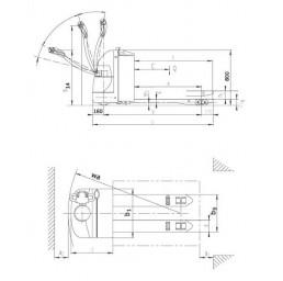 Електрическа транспалетна количка 2,0 тона 24V/225Ah