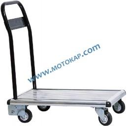 Платформена количка 100 кг 485х725 мм алуминиева сгъваема