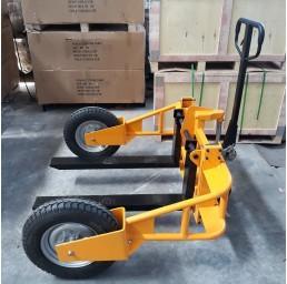 Транспалетна количка за неравен терен 1,2 тона, 65 мм/245 мм