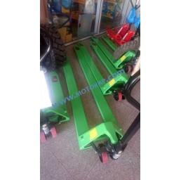 Транспалетна количка с дълги вилици 1800 мм, 2,0 тона