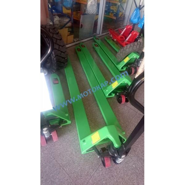 Транспалетна количка с дълги вилици 2500 мм, 2,0 тона