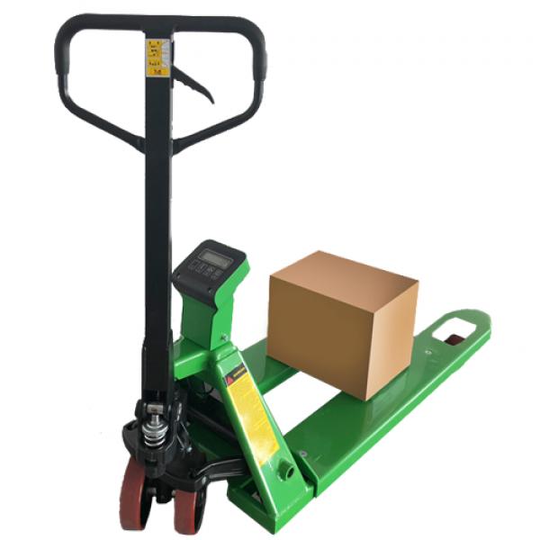 Транспалетна кантарна количка с електронна везна 2,0 тона