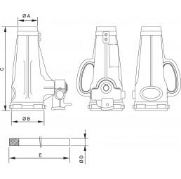Крик хидравличен бутилков тип JJ, 100 тона 310 ÷ 415 мм