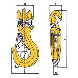 Кука 1,12 тона за верига 6,0 мм със скъсяващ елемент
