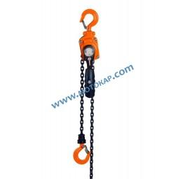 Верижна лебедка с тресчотка 250 кг, 3 метра, EN 13157, защита срещу претоварване* ПО ЗАПИТВАНЕ