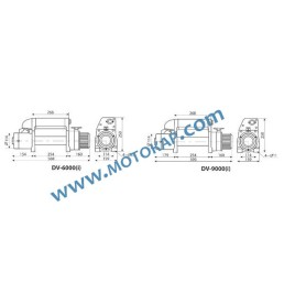 Лебедка електрическа автомобилна 12V, 4,1 т. (9000 lb), 30 м, 3,4 kW, тип DV ПО ЗАПИТВАНЕ