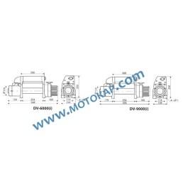 Лебедка електрическа автомобилна 12V, 4,1 т. (9000 lb), 30 м, 3,4 kW, тип DV