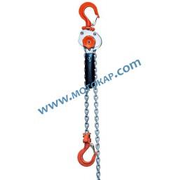 Мини верижна лебедка с тресчотка 500 кг, 3 метра