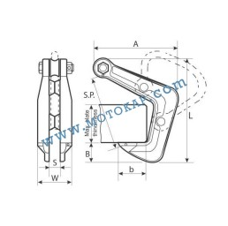 Лапа/захват за метални профили 5000 кг*, тип HHC