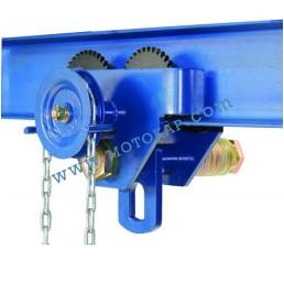 Ръчна гредова количка 500 кг със зъбна предавка, 64-140 мм, 3 м верига, тип GT