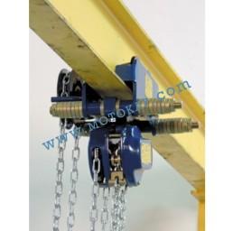 Комбинирана верижна лебедка с гредова количка 2000 кг, 3 м верига, тип T