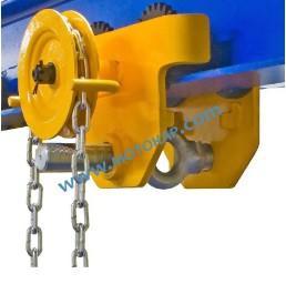 Ръчна гредова количка със зъбна предавка 2000 кг, 74-220 мм, 3 м верига, GT-H