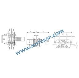 Електрическа гредова количка/релсов плъзгач 2,0 т. 100-175 мм 380 V 50 Hz 2 скорости