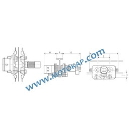 Електрическа гредова количка/релсов плъзгач 3,0 т. 100-200 мм 380 V 50 Hz 1 скорост