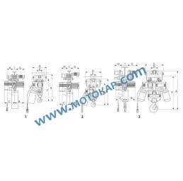 Електрически верижен подемник с ел. хоризонтално задвижване CTD 003, 1,0 т.