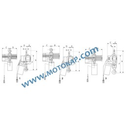 Електрически верижен подемник/телфер с кука 10,0 т. 380 V 50 Hz 1 скорост