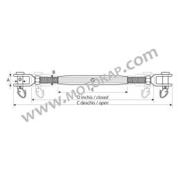 Обтегач вилка/вилка от неръждаема стомана М8