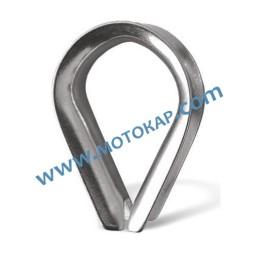 Кауш (гаша) от неръждаема стомана за въже ø6 мм, DIN 6899B