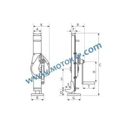 Рейков крик латерна 5,0 тона, 80 – 425 мм
