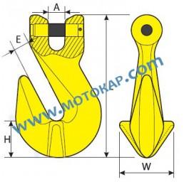 Реглаж (скъсяваща кука) за верига 1,12 т., клас 8, LKS, SF-4:1