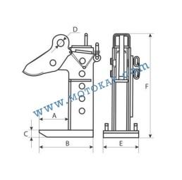Хоризонтална регулируема лапа/захват за ламарина 8000 кг, тип PD