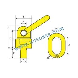 Многофункционален върток 1,0/0,5 т.(0°/90°), резба 14х20 мм, SF-4:1