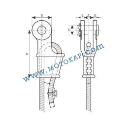 Накрайник (клин) за стоманено въже 9-10 мм, тип OWS