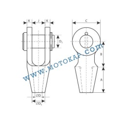 Накрайник (вилка) за стоманено въже 11-13 мм, тип OSS