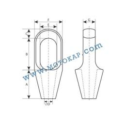 Накрайник (круша) за стоманено въже 18-19 мм, тип CSS