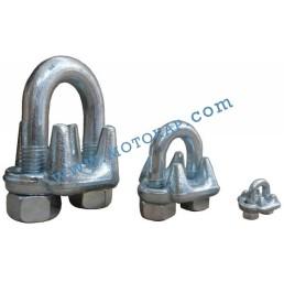 Скоба за въже 9,0-10,0 мм лята електропоцинкована, EN 13411-5