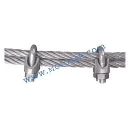 Скоба за въже 6,5 мм електропоцинкована, DIN 741