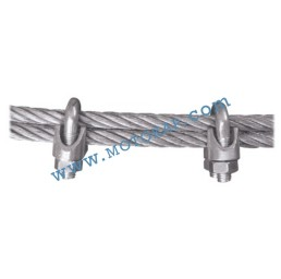 Скоба за въже 34,0 мм електропоцинкована, DIN 741