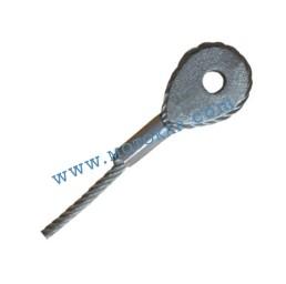 Кауш плътен DIN 3091 за въже 12,0 мм, тип ROD