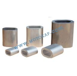 Алуминиева втулка цилиндрична за въже 6,0 мм, тип MAL