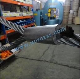 Алуминиева втулка цилиндрична за въже 8,0 мм, тип MAL