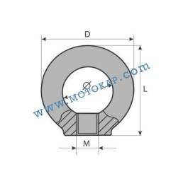 Ринг гайка М20 електропоцинкована 1,2 тона, SF-4:1